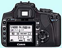 Canon eos DSLR camera hire - back view