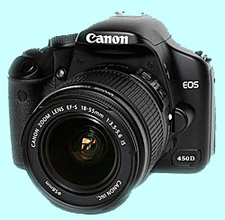 canon eos digital-camera-hire - front view