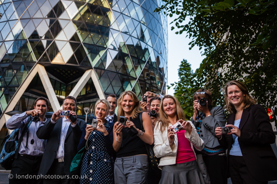 photography group form deutche bank at the Gherkin London
