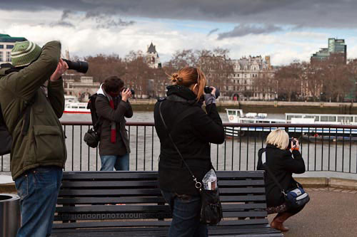 group of photography students in london with LondonPhotoTours and Workshops