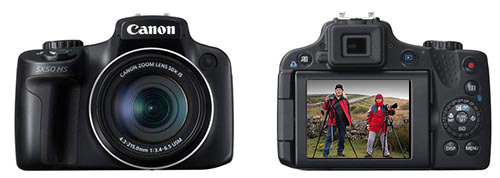 canon SX50 front and back views