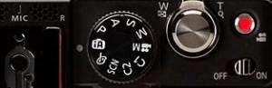 dials on a digital compact camera