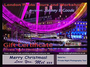 gift certificate night photography image