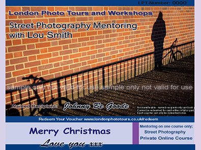 gift certificate -street photography mentoring