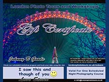 photography gift experience London night photography course image