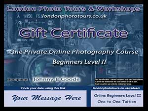 Photography Gift Vouchers for Online Courses
